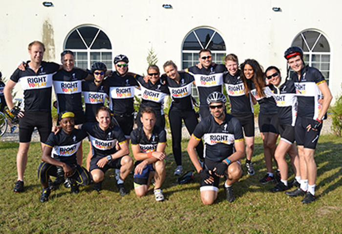 Group image of cycling team