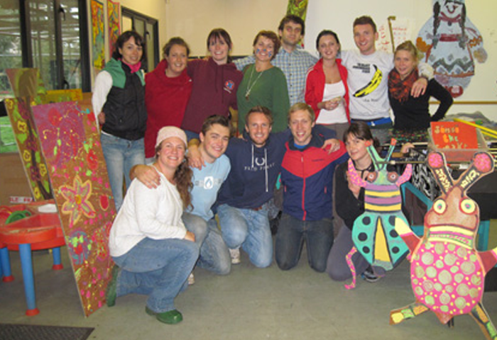 Group image of people at a nursery