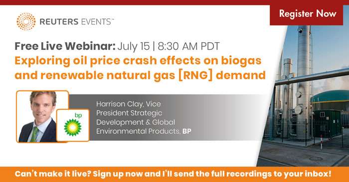 Exploring oil price crash effects on biogas and renewable natural gas [RNG] demand