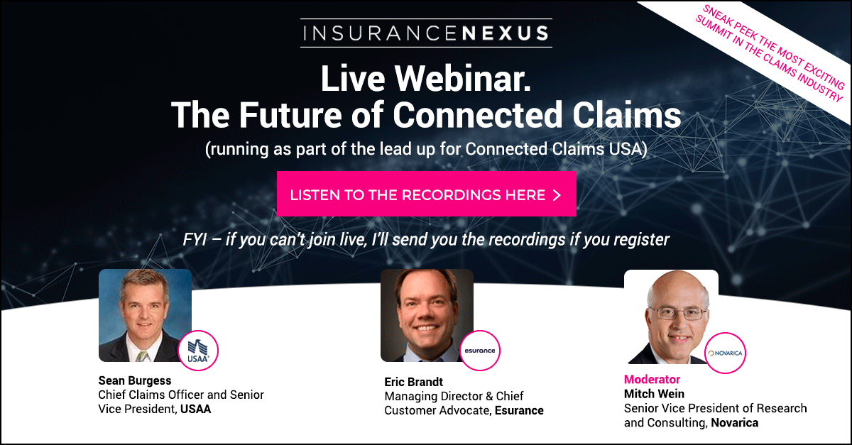 Chief Claims Officers From Usaa And Esurance Reveal The Future Of Connected Claims Reuters Events Insurance