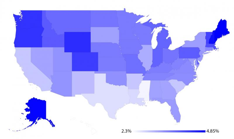 Per-capita users of health forums shows heavy geographic variability (Source: http://www.jmir.org/2015/8/e194/)