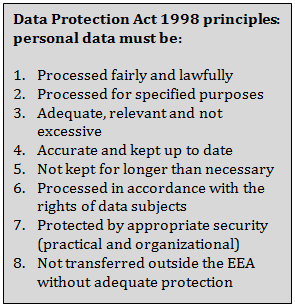 data protection act 1998 The data protection act 1998 governs the use of personal information by businesses and other organisations.